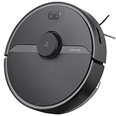 Roborock S6 Pure Robot Vacuum and Mop, Multi-Floor Mapping, Lidar Navigation, No-go Zones, Selective Room Cleaning, Super Strong Suction Robotic Vacuum Cleaner, Wi-Fi Connected, Alexa Voice Control