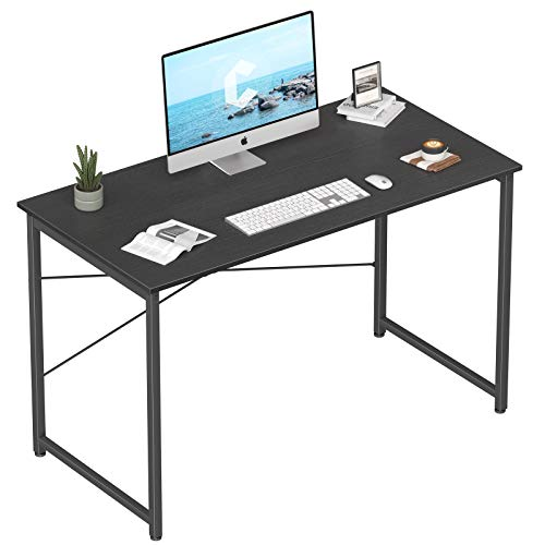 "Cubicubi Computer Desk 47"" Home Office Laptop Desk Study Writing Table, Modern Simple Style, Black"