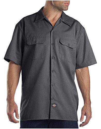 Dickies Men's Short-Sleeve Work Shirt, Charcoal, Large