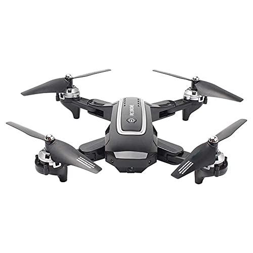 FMHCTN Drone Pieghevole Fotocamera 4K, Posizionamento GPS Aereo Fotografia Aerea Quadcopter Altitude Hold RC 5G WiFi FPV 2 batterie