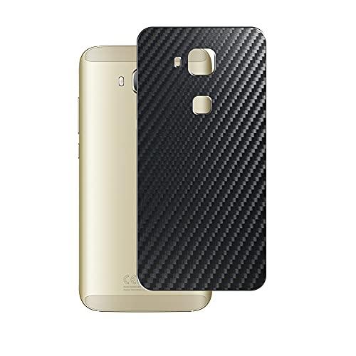 VacFun 2 Piezas Protector de pantalla Posterior, compatible con Huawei G7 Plus, Película de Trasera de Fibra de carbono negra Skin Piel