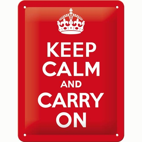 Keep Calm And Carry On Image Postcard 10cm x 15cm Official Licensed Union Jack