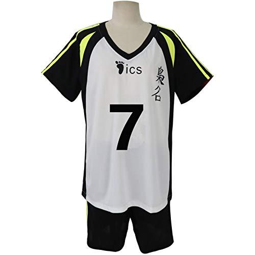 YZJYB Unisexe Hasashi Kinoshita T-Shirt Short Set Karasuno High School Volleyball Club Cosplay Haikyuu Mode Été Hommes Manche Courte Hauts Ensembles De Pantalons Habit De Sport Survêtement,XXL