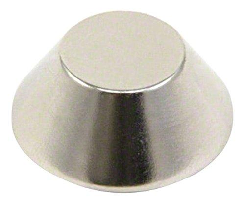First4magnets 25 mm buitendiameter x 13 mm binnendiameter x 10 mm dikke N42 neodymium kegel magneet 10,5 kg pull (1 verpakking), metaal, zilver, 40 x 20 x 5 cm