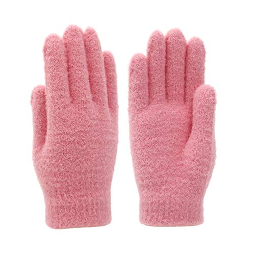 CROSSFINGERS Soft Winter Knit Gloves with Warm Thermal and Stretchy Material for Women and Kids Age 8-12
