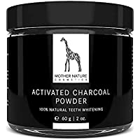 Carbon Activado - VEGANO - para Blanqueamiento y Limpieza de los Dientes - 60mg de Polvo de Carbón Activado 100% NATURAL - Teeth Whitening Powder - para Dientes Naturalmente Blancos