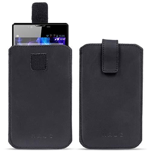 NAUC BQ Aquaris M5.5 Leder Tasche Pull Tab Sleeve Hülle Schutzhülle Hülle Cover Bag