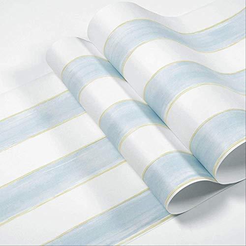 libby-nice Blau Rosa Weiß Gestreifte Tapete, Kinderzimmer Modernes Kinderzimmer Mädchen, Junge Schlafzimmer Tapetendekoration 5.3㎡ Hellblau