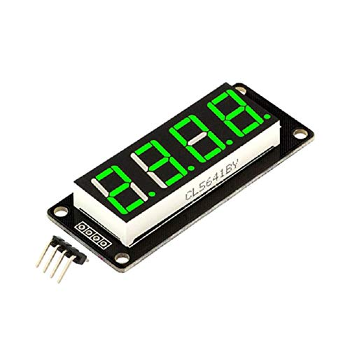 FEKETEUKI 0.56 '' Pulgada TM1637 4Bit Digital LED 7Segment Clock Tube Display para tamaño Arduino-Green-1