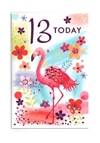Dreizehn, (13) Jahr Mädchen Geburtstag Karte–GRATIS 1. Klasse Post (UK)