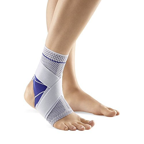 BAUERFEIND MALLEOTRAIN S Open Heel Knöchelbandage, Herren, Titanium/Gray with Blue Accents, Right 4