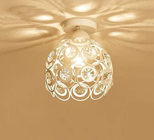 Moderno Lámpara de techo de Cristal 20cm Plafón E27 Iluminación Dormitorio Sala...