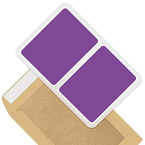 Rectangle Stickers (Set of 2) 10cm - Deep Azure Purple Blue Colour Block Decals for Laptops,Tablets,Luggage,Scrap Booking,Fridges, 44858