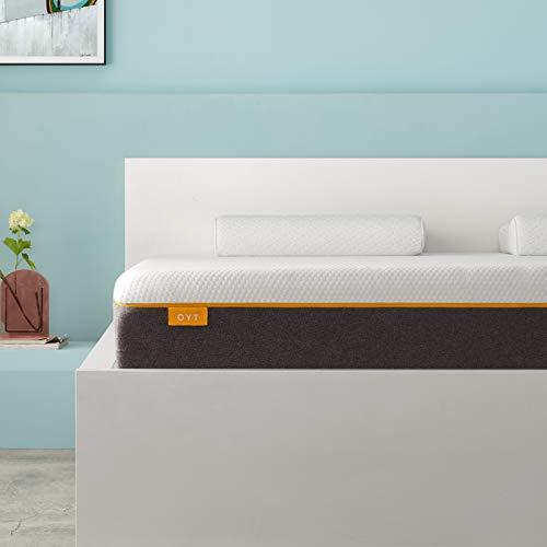 OYT Einzelmatratze, Memoryschaum-Matratze, atmungsaktive Matratze, mittelfest, mit weichem Stoff, feuerfeste Barriere, hautfreundlich, langlebig, für Einzelbett 90 x 190 x 18 cm