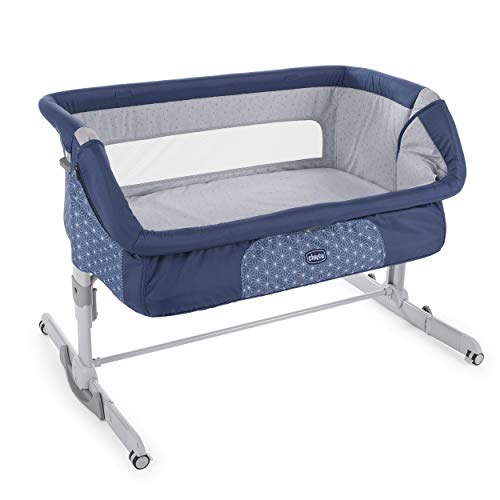 Chicco Next 2 Me Dream - Cuna de con anclaje a cama, balancín y 11 alturas, color azul (Navy)
