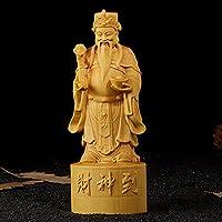 彫刻の装飾 彫刻された富の神 木製クラフト ギフト ホーム デコレーション 彫像装飾品
