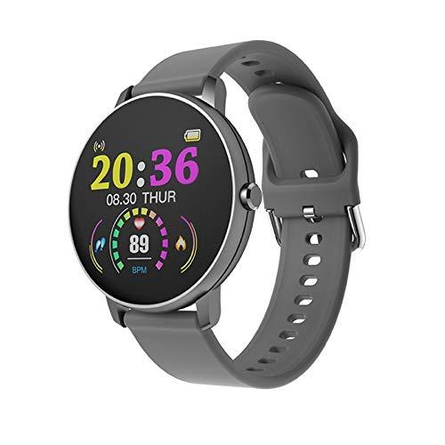WRLR Pulsera Inteligentes 1,3 Pulgadas De Pantalla Redonda De Pantalla Táctil Completa Reloj Deportivo Reloj Inteligente (Color : Gray)
