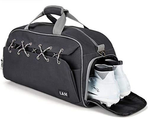 Bolso de mano de viaje con zapato de bolsillo, bolsa de viaje de gran capacidad, bolsa de viaje multifuncional, negro (Negro) - FTHB190803