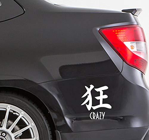 2 STUKS 16.5x15cm gek in het Chinees en in het Engels auto sticker auto stickers styling