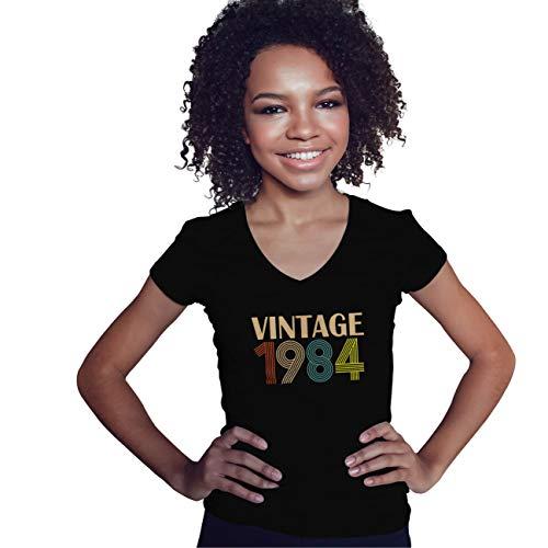 Lapi Boutique Vintage 1984 35 Birthday Gift Camisa de Cuello en V para Mujer