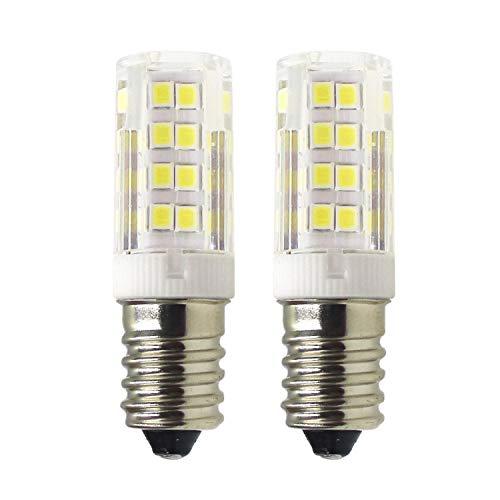 Mechok E14 LED Lampe, 5W 400lm 6000K Kaltes Weiß Ersatz für 40W Halogenlampen LED Leuchtmittel, 220V Nicht Dimmbar Glühlampe für Kühlschrank, Nähmaschine, Nachttischlampe, Dunstabzugshaube (2er-Pack)