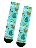 National Lampoon's Christmas Vacation Moose Glass Squirrel Tree Sublimation Mid-Calf Crew Socks