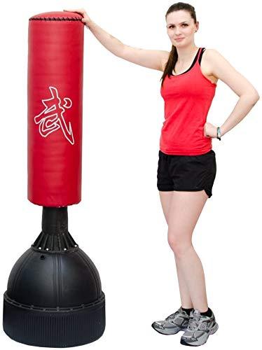EYEPOWER Freistehender Boxsack für Kinder und Erwachsene - 160cm Standboxsack Set zum Befüllen