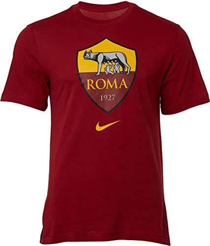 NIKE Roma M NK tee Evergreen Crest T-Shirt, Hombre, Team Crimson