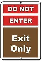 ヴィンテージティンサインメタルプレートプラーク、出口のみのアクティビティサインキャンプ場サイン、壁のティンメタルサインインテリアメタルプラーク警告通知鉄の絵を入力しないでください