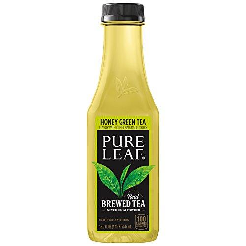 Pure Leaf Iced Tea, Not Too Sweet Green Tea with Honey, 18.5 oz
