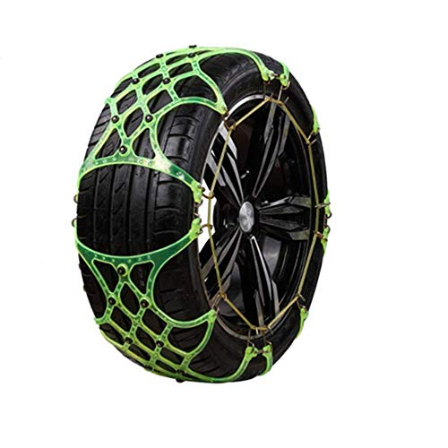 Cadena de Nieve para automóvil Cadenas de Llantas universales Llantas Antideslizantes Fácil instalación Cadena de Superficie Rugosa Lodo de Nieve Seguridad para Autos Cinturón de Llantas para Nieve