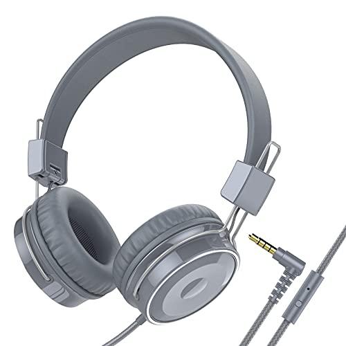 Baseman Wired Headphones, Lightweight Foldable On Ear Wired Headphones...