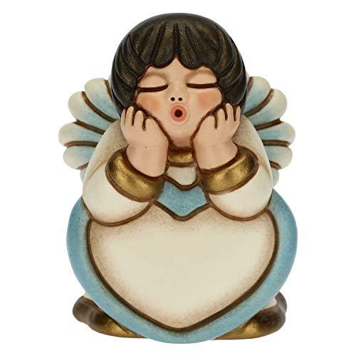 THUN - Angelo Lui Piccolo con Cuore - Living, Oggetti Decorativi per la Casa - Idea Regalo - Linea Cerimonia - Ceramica - 4,8x4,7x6,3 cm h