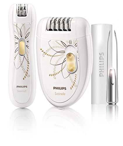 Philips HP6540-Epilierer Limited Edition, 120 – 240 V, Edelstahl, Farbe: Weiß