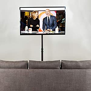 """VIVO TV Display Portable Floor Stand Height Adjustable Mount for Flat Panel LED LCD Plasma Screen 13"""" to 42"""" (STAND-TV07)"""