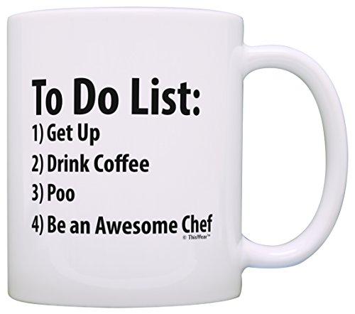 Chef To Do List Mug Funny Be Awesome List Chef Gift Coffee Mug Tea Cup White