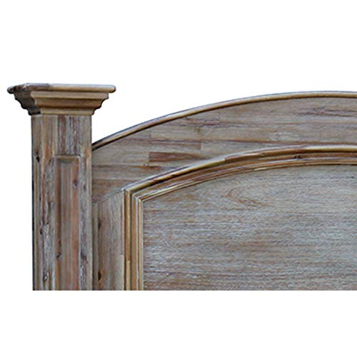Amazing Deal Rustic Wood Queen Bed with Warm Undertones and Natural Imperfections. Solid Wood Frame ...