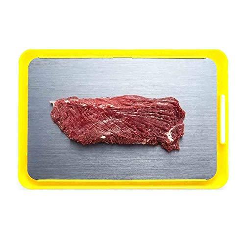 Platte Auftauen AGYH Schnell Abtauwanne, Fast Abtauwanne for Tiefkühlkost Ohne Heißes Wasser Und Mikrowellenherd, Halten Lebensmittel Ernährung, 34.5x23cm