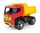 LENA 02143 - Modellino di Camion Gigante Gigante in Titanio, Ribaltabile di Circa 51 cm, Grande Veicolo da Cantiere, per Bambini dai 3 Anni in su, Stabile Camion con ribaltamento per ribaltare.