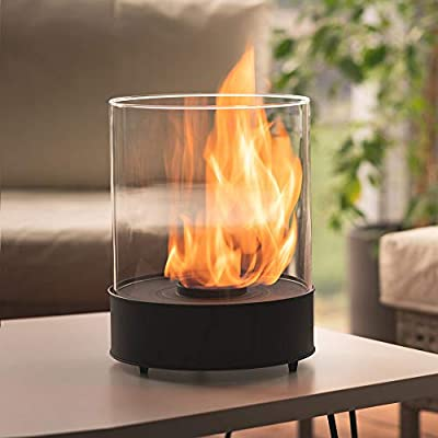 Tabletop Bioethanol Fireplace – Longest burning 3,5h -Garden Fire Heater 2,5kW - Indoor/Outdoor – 1L Fuel Inc, Free Shipping - Decoration for balcony - Home and Garden gift ideas - Chantico by Planika