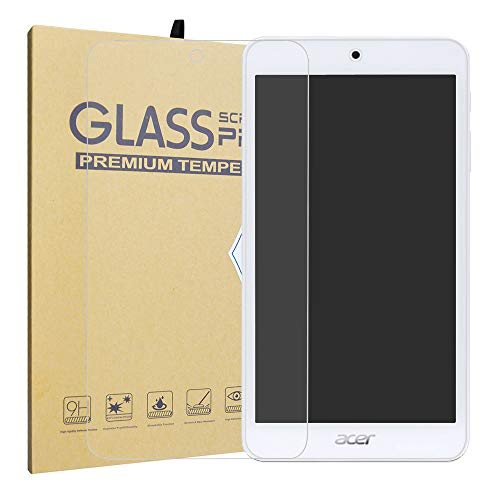 LiuShan Acer Iconia One 7 B1-7A0 Templado Protector, 9H Dureza Premium Cristal Protector de Pantalla de Vidrio Templado para 7