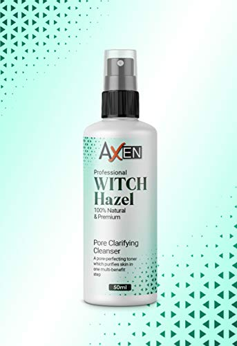 Distilled Witch Hazel Liquid 50ml SPRAY- Pure, Natural, Cruelty Free, Vegan - Cleansing & Toning - Ideal for Aromatherapy, Skincare and DIY Beauty Recipes