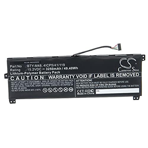 vhbw Batería Recargable Compatible con MSI PS42 Modern 8RC Notebook (3250 mAh, 15,2 V, polímero de Litio)