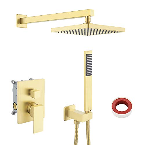KES Shower System Shower Faucets Sets Complete Rain Shower Head with...