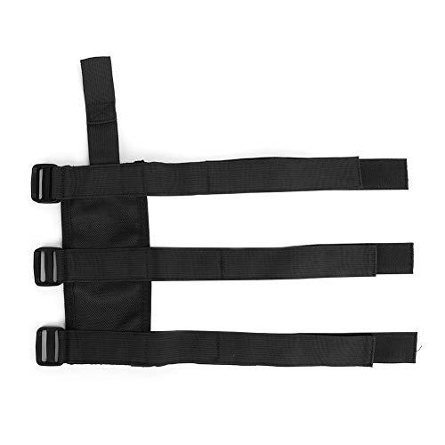 Qiilu Auto Feuerlöscher Gürtel, Feuerlöscher Befestigungshalter Gürtel Verstellbarer Gurt für Wrangler/Gladiator(schwarz)