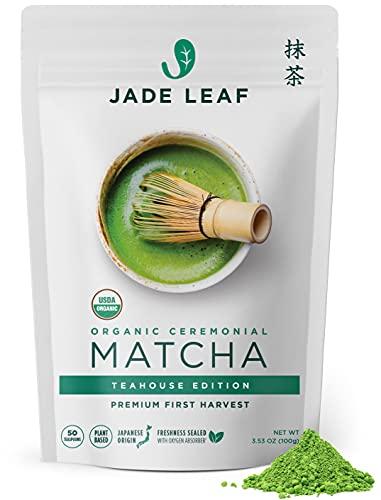 Jade Leaf Organic Matcha Green Tea Powder - Authentic Japanese Origin - Premium First Harvest Ceremonial Grade (3.53 Ounce)