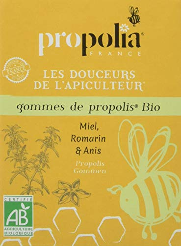 Propolia Gomme de Propolis Miel/Romarin/Anis Bio 45 g
