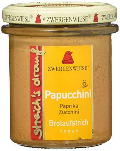 Zwergenwiese Bio Aufstrich streichs drauf Papucchini (Paprika-Zucchini) laktosefrei, 160 g