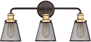 Quoizel VLT8603WT Vault Metal Mesh Bath Vanity Wall Lighting, 3-Light, 300 Watts, Western Bronze (11