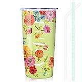 NymphFable 20oz Flores de Colores Taza Termo Cafe para Llevar Taza Termica Acero Inoxidable Taza Personalizada